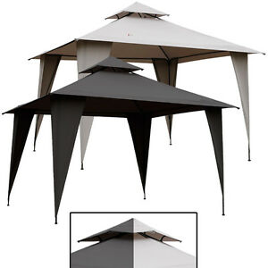 pavillon ko 3x3m mit dach anthrazit grau taupe beige. Black Bedroom Furniture Sets. Home Design Ideas