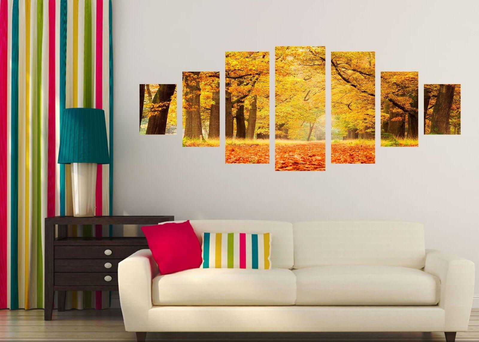 3D bosque amarillo 676 impresión sin enmarcar Papel de Parojo Calcomanía Decoración De Parojo Parojo Interior AJ