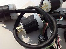 1 Male Twist Lock plug 4 prong L14-20 w/ Cord 125/250 volt 20 amp.