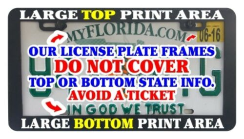 Live without fear license plate frame holder