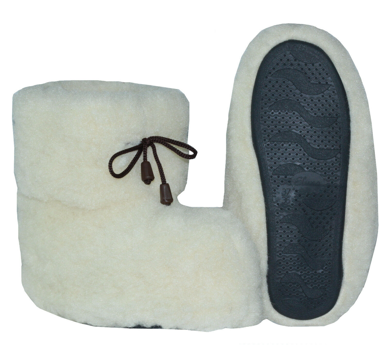 New Natural Sheep Wool Slippers Home avvioie scarpe   US SELLER Dimensione 7.5-8 Ivory