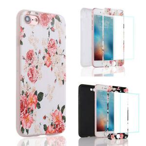 iPhone-5-6-7-8-Etui-Coque-Verre-Trempe-Protection-Integrale-360-Degre-Antichco