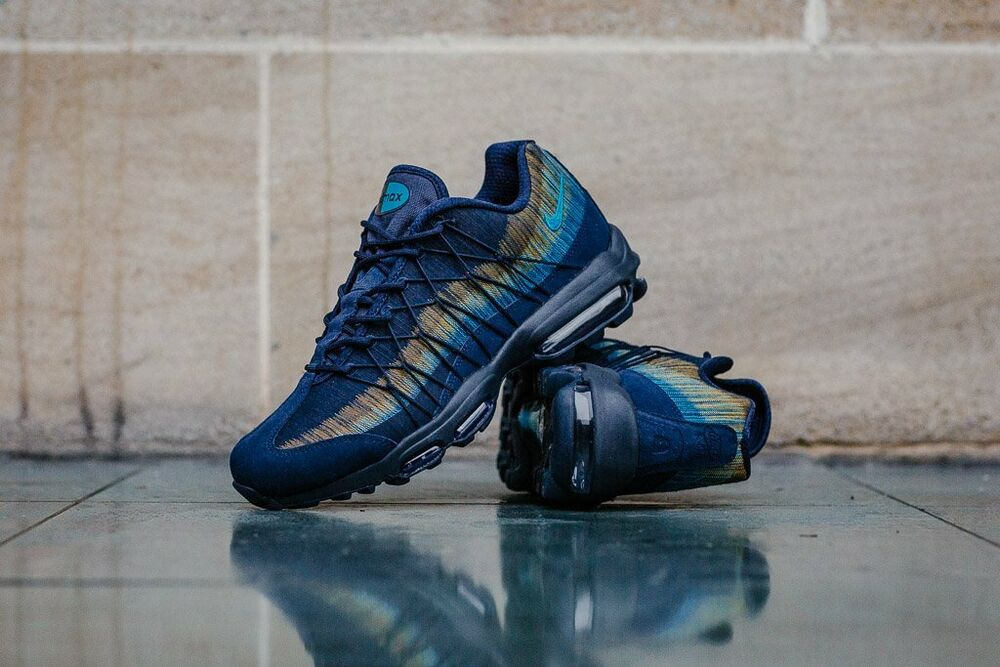 Men's Nike Air Max 95 JACQUARD JCRD Obsidian/Lt Bleu Fury 749771 402 New BOXED-