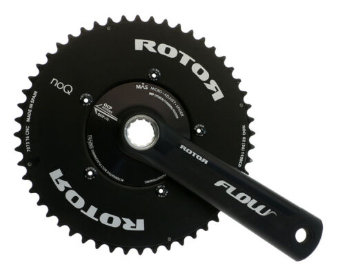 Rotor Flow Aero Crankset 52//36t x 172.5mm MAS 110BCD Universal 30mm BB Crank NEW