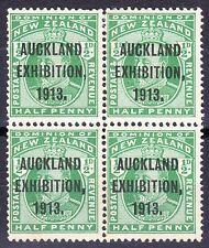New Zealand 1913 AUCKLAND EXHIBITION ½d BLOCK OF FOUR SG412 2xMH/2xMNH OG