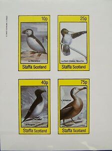Staffa-1982-Sheet-Birds-MNH-imperforated