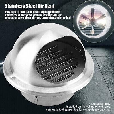 Grille d/'aération Ventilation ronde Réglable Acier inoxydable plafond durable♥