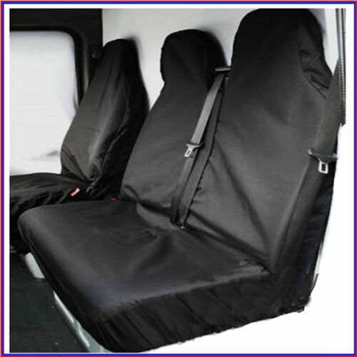 FITS RENAULT MASTER AND TRAFFIC HEAVY DUTY SEAT COVERS BLACK VAN SEAT COVERS