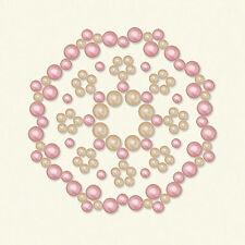 BasicGrey OPALINE Designer Half Pearls-Calliopsis Blush #2514 scrapbooking SALE!