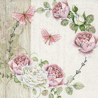 5 Napkins Meadow Garden Poppies Flowers 33 cm Tissue Decoupage Paper Party Craft