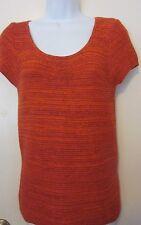 Ann Taylor LOFT Reddish Orange Short Sleeve Sweater~Sz XS~GC