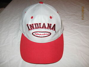 outlet store a9229 dd776 Image is loading Indiana-Hoosiers-Vintage-Snapback-Hat-Cap-IU-NCAA-