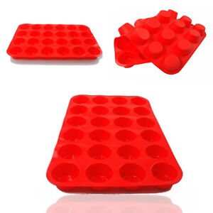 24-Cavity-Mini-Muffin-Cup-Silicone-Soap-Cookies-Cupcake-Bakeware-Pan-Tray-Mould