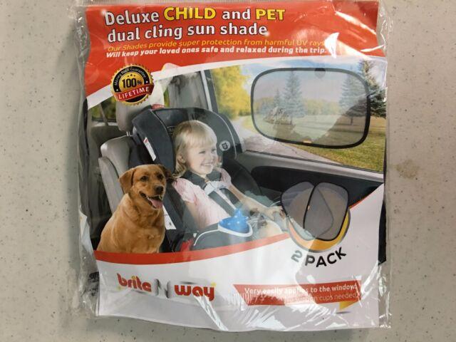 "Auto Drive Side Window Static Cling Sunshade Press on Reusable 12 /"" x 16 /"" NIP"