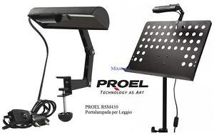 PROEL-RSM430-PORTALAMPADA-PER-LEGGIO-CON-CAVO-di-2MT-LAMPADA-DA-LEGGIO