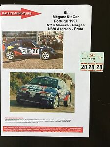 DECALS-1-43-RENAULT-MEGANE-MAXI-KIT-CAR-AZEREDO-RALLYE-PORTUGAL-1997-WRC-RALLY