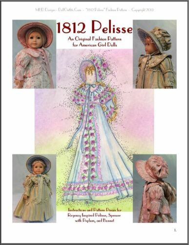 """1812 Pelisse"" an Original Regency Era Fashion Pattern for American Girls"