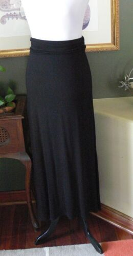 Skirt Knit Rayon Maxi S Molli Black line A amp; Mia Over Fold Jersey txpanXPwqp