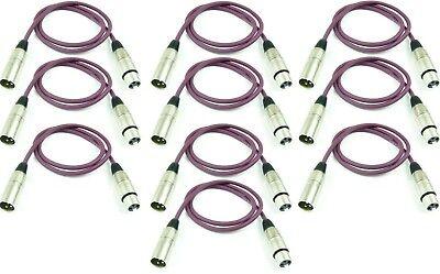 Romantisch 10x 1 M Xlr Xlr Mikrofonkabel Lila Neutrik Kompatibel Dmx Mikro Kabel Adam Hall Ungleiche Leistung Veranstaltungs- & Dj-equipment