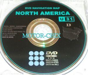 Lexus & Toyota DVD Navigation Disk 0791 Data ver.06.1 U31 | eBay on