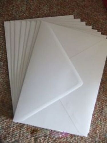 Weddings 100 White C5 Envelopes for A5 Cards Invitations 100gsm Greetings