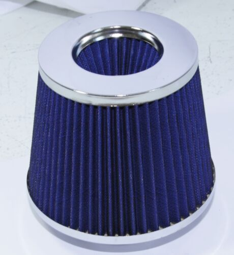 "Universal 3/"" Air Filter Open Top Air Intake Turbo Filter Blue"