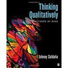 Thinking Qualitatively: Methods of Mind by Johnny M. Saldana (Paperback, 2014)