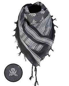 Neck-Scarf-Shemagh-110x110cm-Paratrooper-Skull-Sword-Scarf-Plo-Headscarf-Army