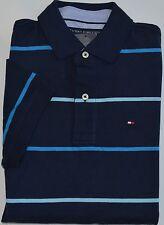 NWT Men's Tommy Hilfiger Short-Sleeve Polo Shirt Navy Blue Custom XSmall XS