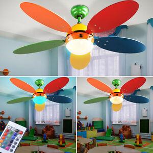 rgb led deckenventilator fernbedienung lufterfrischer esszimmer lampe dimmbar ebay. Black Bedroom Furniture Sets. Home Design Ideas
