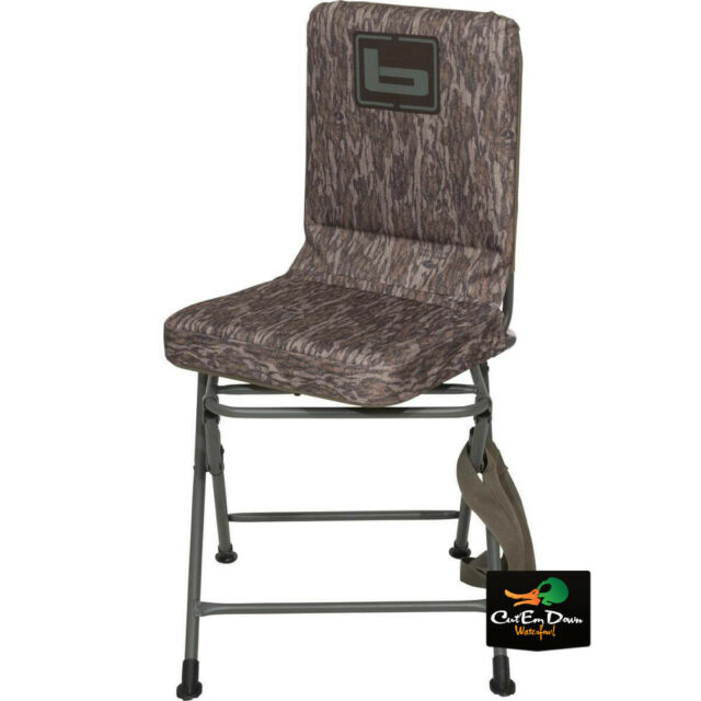 New Banded Gear Swivel Blind Chair Duck Hunting Camo Pit Seat Stool Padded For Sale Online