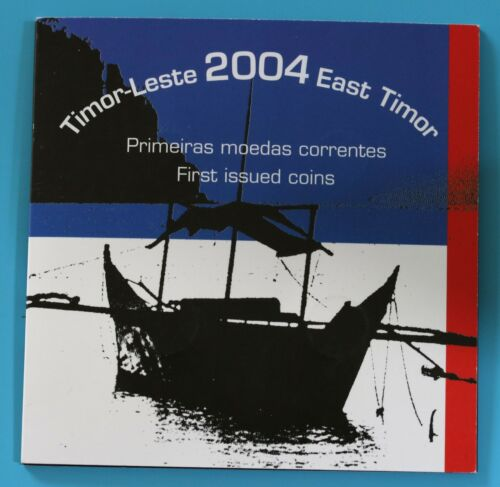 East Timor 2004 Mint Set 1,5,10,25 First Issued Coins /& 50 Centavos BU Coins