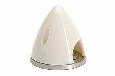 """2 1/4"""" Bianco Spinner Con Piastra Posteriore In Alluminio-mostra Il Titolo Originale Essere Distribuiti In Tutto Il Mondo"""