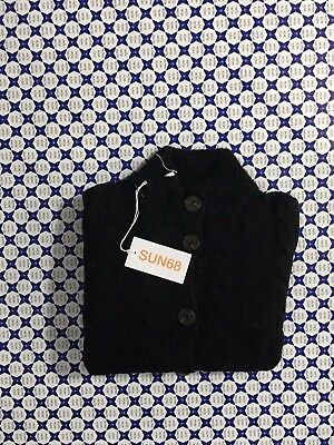 Cardigan Sun 68 Donna - Bottoni Trecce Tasche - Nero - 27265