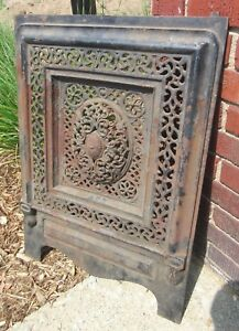 Antique Cast Iron Fireplace Summer Cover Ebay