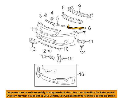 HONDA OEM 08-12 Accord Front Bumper-Upper Support Bracket Right 71140TA0A00