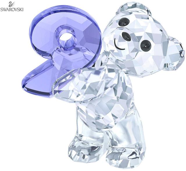 New in box Swarovski Crystal Figurine Kris Bear Number Nine 9 #5108731