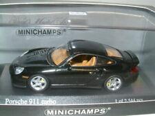 Porsche 911 Turbo S 1998 Brewster darkgreen Minichamps 1:43 map02002516 nuevo