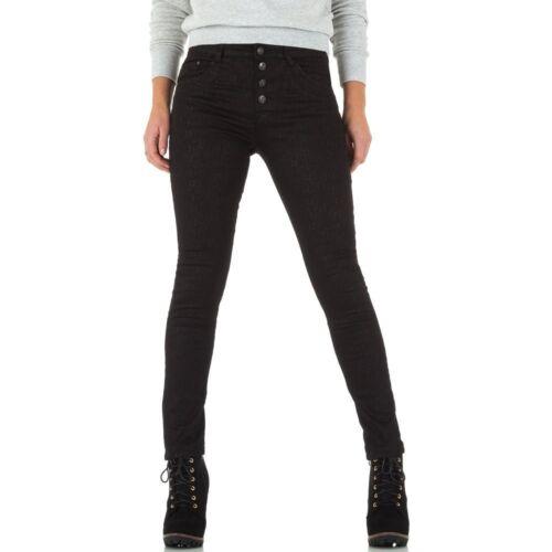 Damen Gemusterte Skinny Jeans 1378 Ital-design