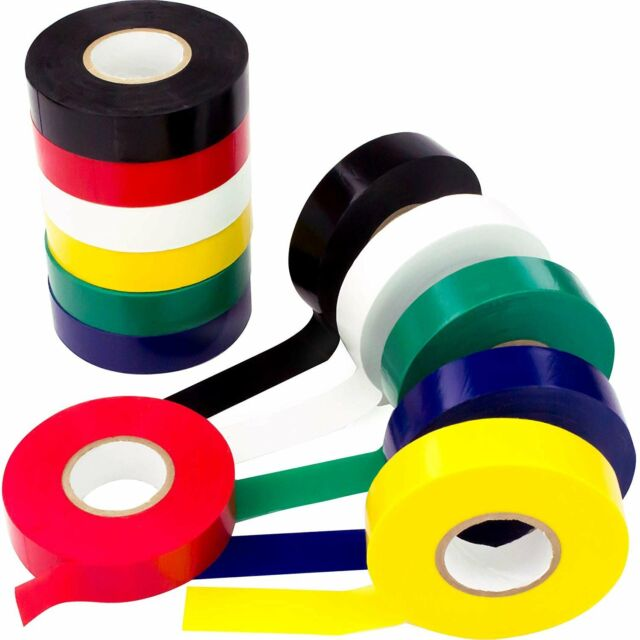 Weather-Resistant Colored Electrical Tape 60 Jumbo Roll 12 Pack by Nova...
