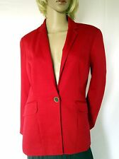 Coldwater Creek Womens Red Blazer Jacket Lined Sz P10