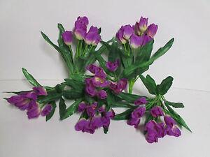 AuBergewohnlich Das Bild Wird Geladen Dekoration Tulpen 6 X Tulpenbusch Lila Blumen  Floristik