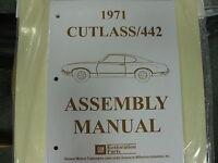 1971 Cutlass, 442 (all Models) Assembly Manual