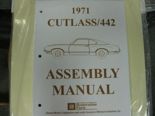 ALL MODELS 442 1971 CUTLASS ASSEMBLY MANUAL