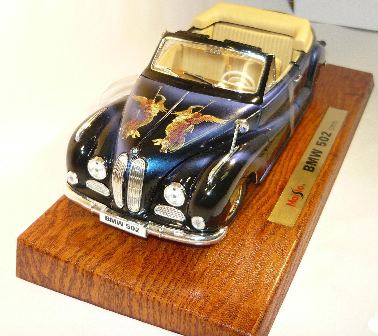 Maisto 56015 BMW 502 (1955) avec Motif  Baroque Ange  neu&ovp 1 18