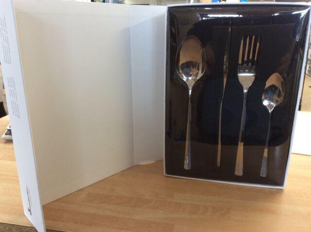 Isabella Elegant Cutlery Set Silver 16pcs Caravan Holiday Accessories