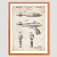 Ray Gun Pistol Patent Print 18x24 Poster Vintage Repro Nice Gift