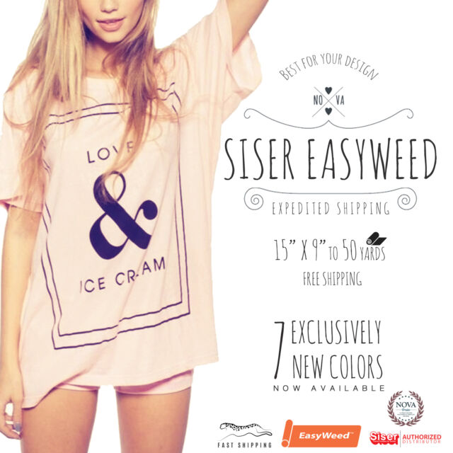Siser Easyweed IRON-ON Heat Transfer Vinyl 15
