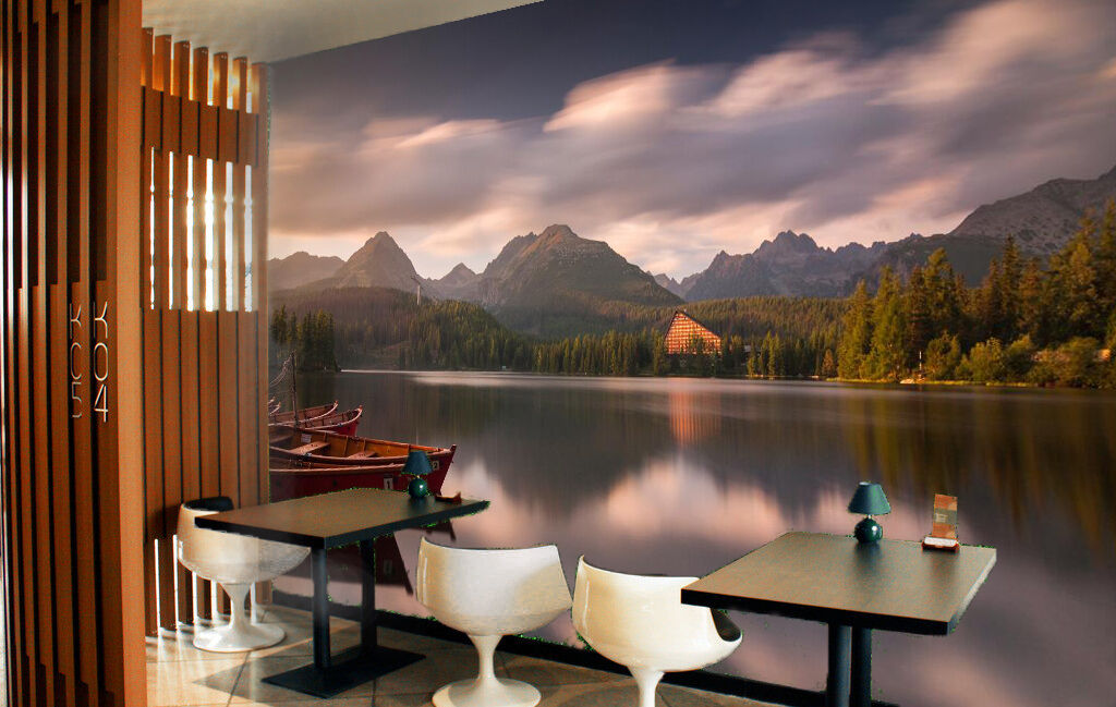 3D Colour Cloud And Lake 725 Wall Paper Wall Print Decal Wall Deco Indoor Wall