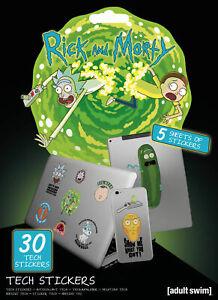 17,5x24 Modische Muster Portal- Stickerset Technik Sticker Größe Ca Rick And Morty